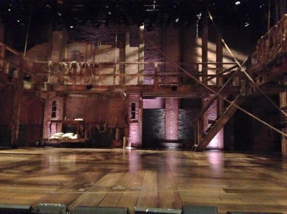 "The set for ""Hamilton"""